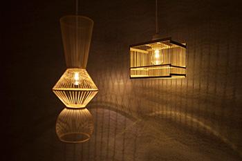 竹の照明器具